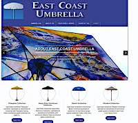Client Work Examples: East Coast Umbrella web site design by Metheney Consulting