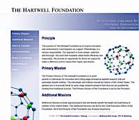 The Hartwell Foundation web site support