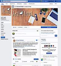 Client Work Examples: Left Hand Publishers Facebook page design by Metheney Consulting