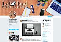Client Work Examples: Left Hand Publishers Twitter design by Metheney Consulting
