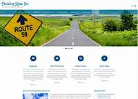 Client Work Examples: Traveling Route 50 responsive web site/blog design page design by Metheney Consulting